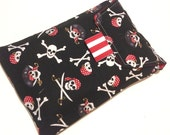 Cute Diapers and Wipes Carrying Case -Black White Red Pirates, Crossbones, Skulls, Polka Dots