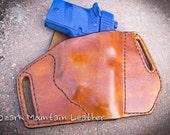 Leather holster for Sig Sauer p938 with laser light scope