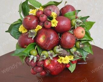 Wedding Bouquet Artificial Bouquet Wedding Flowers Real Touch Flowers fruit apple