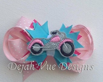 Motorcycle Feltie Embroidery Design