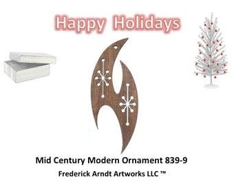 839-9 Mid Century Modern Christmas Ornament