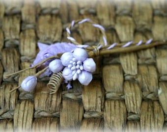 Rustic Lilac Shabby Chic Flower Embellishment FL-077
