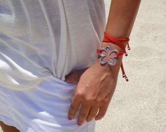 BOHO Suede Flower Double Wrap Suede Bracelet / Necklace, in 10 Colors