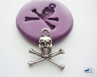 Skull Mold - Skull and Crossbones Mold - Pirate Mold - Silicone Molds - Steampunk - Polymer Clay Resin Fondant