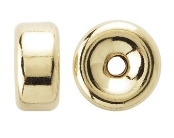 Yellow Gold-Filled Roundels 10 Beads 3mm, 4mm, or 5mm