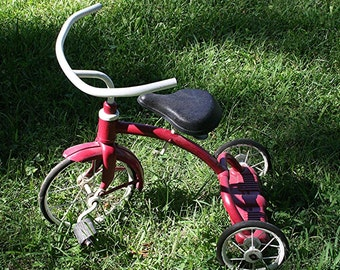 Vintage 1950s Red & White Pal Superbike Tricycle - Great Condition