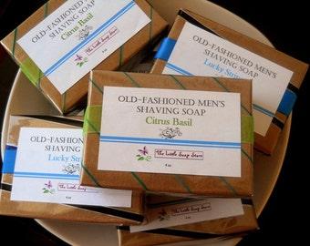 Men's Shaving Soap, Homemade Shaving soap, homemade soap, glycerin soap