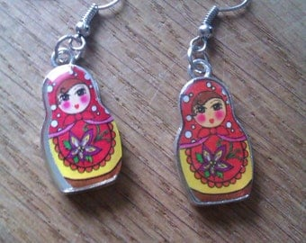 Cute and colorfull russian girl earrings