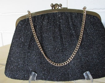 Vintage Black HL USA Clutch Purse