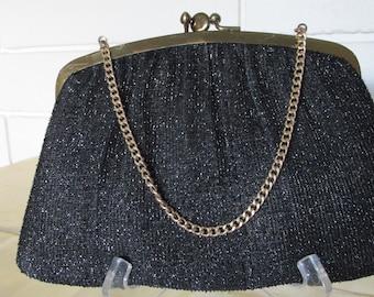 Vintage Black HL USA Clutch Purse