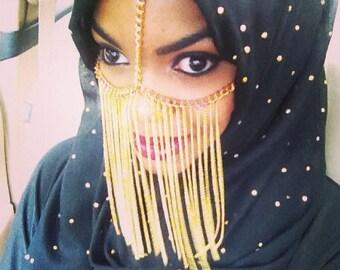 Golden goddess veil