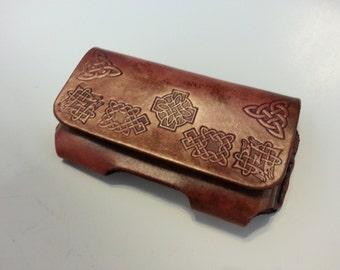 Celtic Leather Smart Phone Case