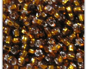 6 0  SL Rootbeer Seed Beads,  10 grams Seed Beads,  Silver Lined Rootbeer Seed  Beads,  Seed Beads, 5161 Japanese Beads Item#553