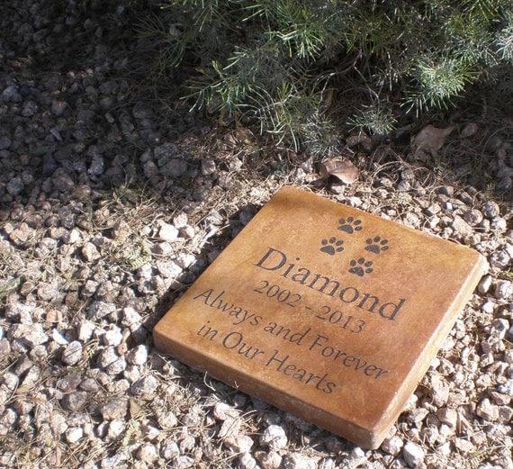 Custom Engraved Pet Memorial Stone 12 X 12