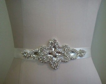 SALE - Wedding Belt, Bridal Belt, Sash Belt, Crystal Rhinestone Sash - Style B70020