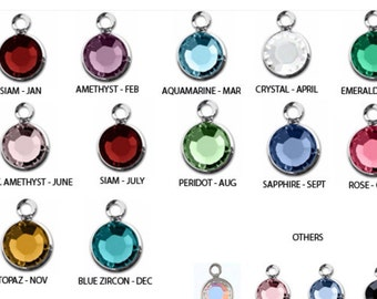Add On- Swarovski Silver Plated Birthstone, 6mm, channel