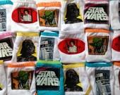 5 pairs of Star Wars panties for girls featuring  Princess Leia, Darth Vader, R2D2, Yoda, etc.