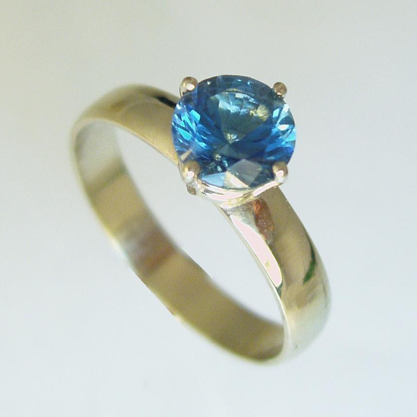 Engagement Ring Gem stone ring14 karat ring yellow gold