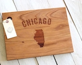 City, State or Country Personalized Cutting Board With Text