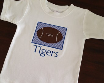 Memphis Tigers football applique t-shirt