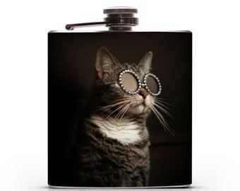 Adopt a Kitty -  6oz Hip Flask
