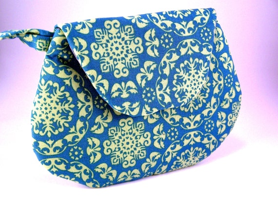 Who is in your Tribe... Blue and Green Aboriginal Mini Clutch - Small Clutch