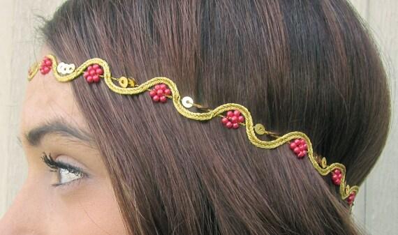 Diadema, Azteca, Tribal, la venda del pelo, indio, mujeres, accesorios