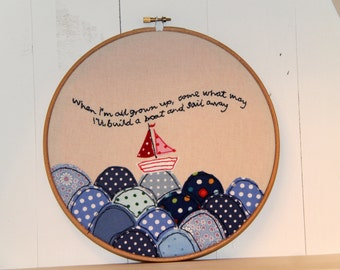 Embroidery Hoop Textile Artwork