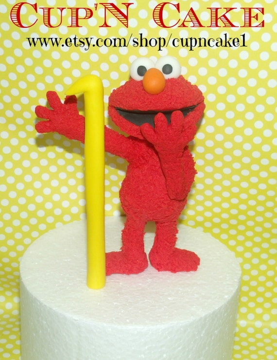 Elmo fondant cake topper by Cupncake1 on Etsy