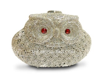 the twit twoo owl crystal clutch bag from the-artful-bag.com