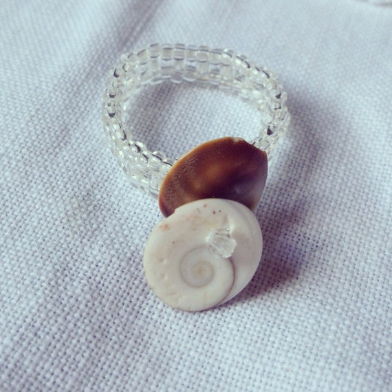Back to Back Shell Ring