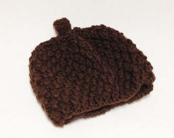 Hand Knit Acorn Hat