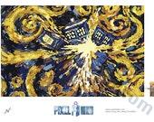 Pixel (8 bit) Exploding TARDIS