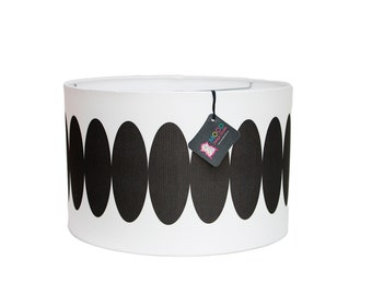 Modern Lamp Shade - Op Rocks - Black and White - Choose Your Size