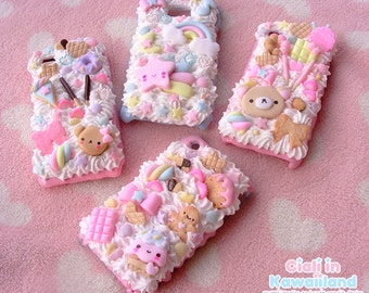 Kawaii Decoden Case - Whipped cream shell case for Iphone 6 6s plus Galaxy phone and XL smartphone