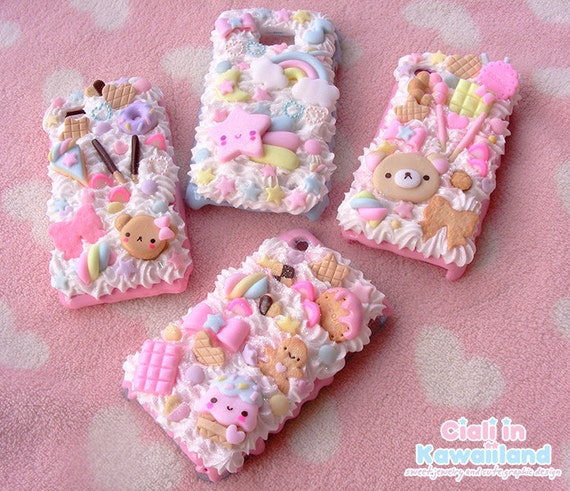 Decoden case shell for all mobile phone kawaii and delicious