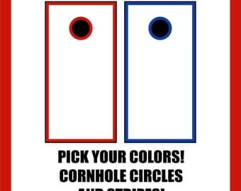 Stripes and Circles for Cornhole (Decals and stickers)