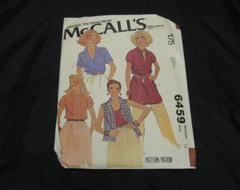 McCall's 6459 Misses Top  Size 14 Bust 36 UNCUT pattern  1979