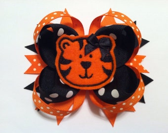 Zoo Tiger Hairbow