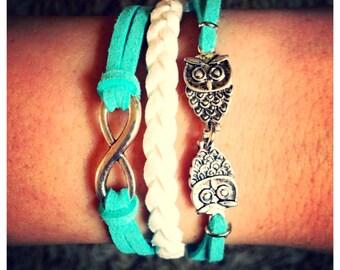 New Infinity Owl Bracelet