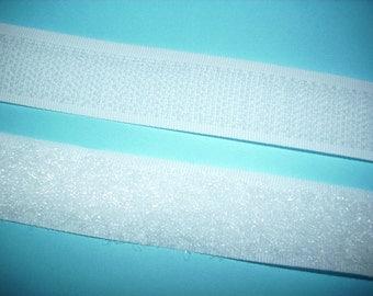 Velcro tape, White, 1m (342)