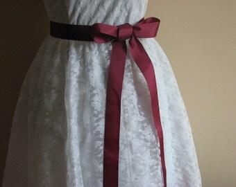 Burgundy bridal sash,Ribbon sash,Burgundy sash,Burgundy ribbon sash,Bridesmaids sash,Bridal accessories,Wedding sash,Bridesmaids sash