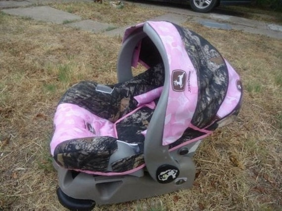 Items Similar To Hot Pink Camo Baby Car Seat Cover Made