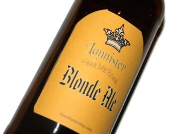 Game of Thrones Lannister Hear Me Roar Blonde Ale Adhesive Beer Labels (Sheet of 9 labels)