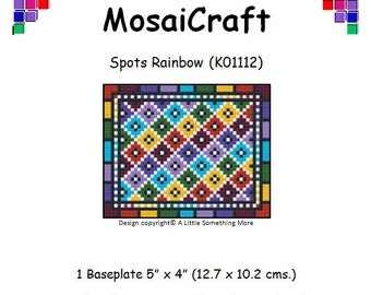 MosaiCraft Pixel Craft Mosaic Art Kit 'Spots Rainbow' (Like Mini Mosaic and Paint by Numbers)