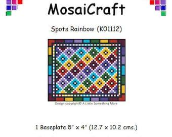 MosaiCraft Pixel Craft Mosaic Art Kit 'Spots Rainbow' (Like Mini Mosaic and Paint by Numbers)