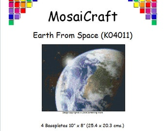 MosaiCraft Pixel Craft Mosaic Art Kit 'Earth from Space' (Like Mini Mosaic and Paint by Numbers)