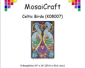 MosaiCraft Pixel Craft Mosaic Art Kit 'Celtic Birds' (Like Mini Mosaic and Paint by Numbers)