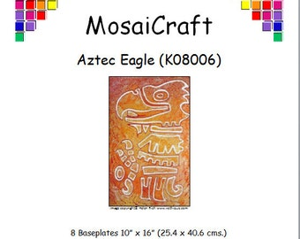 MosaiCraft Pixel Craft Mosaic Art Kit 'Aztec Eagle' (Like Mini Mosaic and Paint by Numbers)