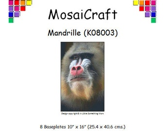 MosaiCraft Pixel Craft Mosaic Art Kit 'Mandrill' (Like Mini Mosaic and Paint by Numbers)